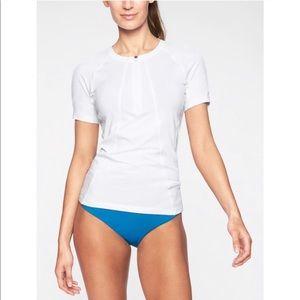 Athleta | med | Pacifica UPF 2 tee bright white